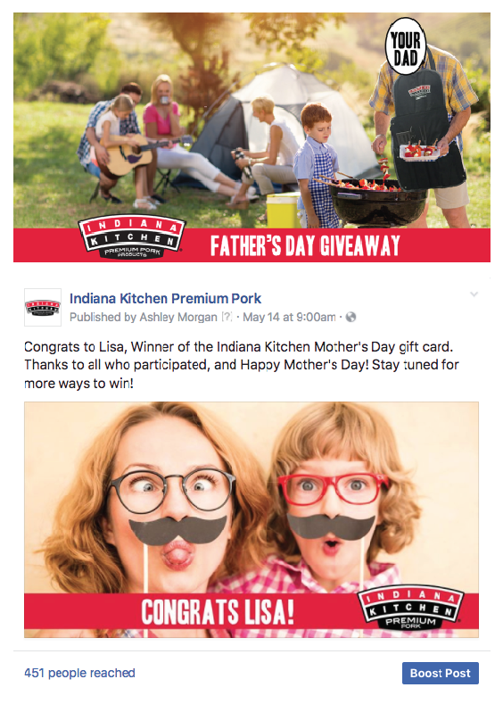 Recent Winners of Indiana Kitchen Giveaways