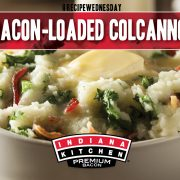 Bacon Loaded Colcannon featuring Indiana Kitchen bacon