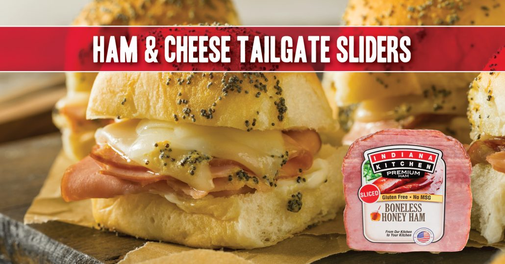 recipe hot ham cheese buns rolls sliders party food tailgate poppy seed mustard
