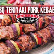 Grilled Pork Kebabs with vegetables