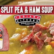 Hearty Split Pea Soup Featuring Indiana Kitchen Ham! A Perfect Recipe for Using Leftover Ham from the Holidays.