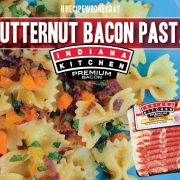 Bowtie Pasta with Butternut Squash and Indiana Kitchen Bacon