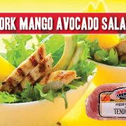 pork mango avocado salad featuring indiana kitchen pork tenderloin