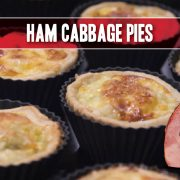 Ham Cabbage Pies, a classic Irish recipe for St. Patrick's Day, featuring Indiana Kitchen ham