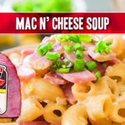 this soupy mac and cheese recipe is quick, easy and delicious featuring indiana kitchen ham