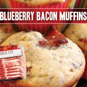 blueberry muffin recipe featuring indiana kitchen bacon