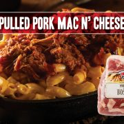 pulled pork mac and cheese great for game day parties and tailgating just in time for football season featuring indiana kitchen boston butt pork shoulder roast