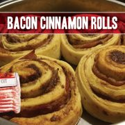 bacon cinnamon roll recipe featuring indiana kitchen bacon