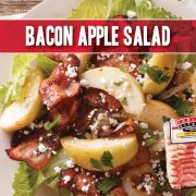 Bacon and apple salad tossed with a light apple vinaigrette