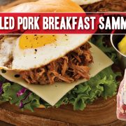 Your everyday breakfast sandwich spiced up with irresistible pulled pork