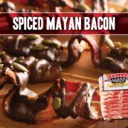 Crunchy, chocolate drizzled bacon
