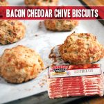 bacon cheddar chive biscuit recipe made with indiana kitchen bacon