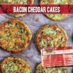 savory pancakes made with cheddar, green onion and Indiana Kitchen bacon recipe